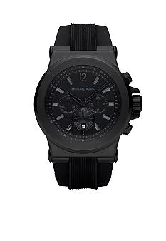 Michael Kors Black Silicone Strap Mens Watch