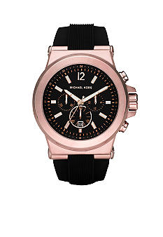 Michael Kors Dylan Rose Silicone Chronograph Watch