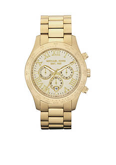 Michael Kors Men's Gold Tone Stainless Steel Layton Chronograph Watch