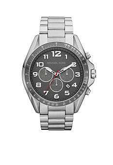 Michael Kors Men's Silver Tone Stainless Steel Bradshaw Chronograph Watch