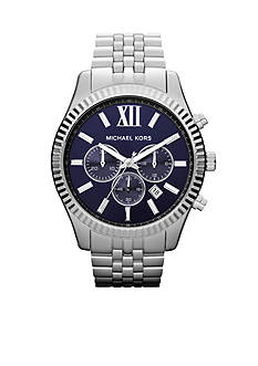 Michael Kors Oversized Silver Tone Stainless Steel Lexington Chronograph Watch