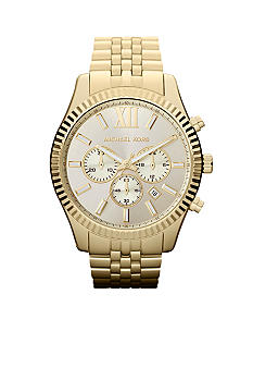 Michael Kors Men's Gold Tone Stainless Steel Ritz Chronograph Watch