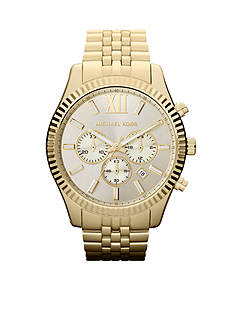 Michael Kors Men's Gold-Tone Stainless Steel Lexington Chronograph Watch