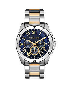 Michael Kors Men's Two Tone Stainless Steel Brecken Watch