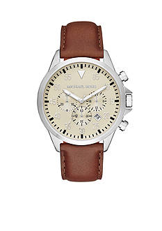 Michael Kors Men's Stainless Steel Egg Shell Gage Watch