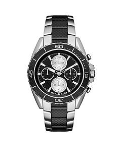 Michael Kors Men's Stainless Steel and Carbon Fiber JetMaster Watch