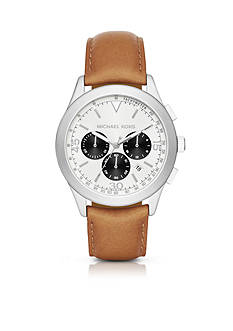 Michael Kors Men's Gareth Leather Chronograph Watch