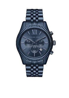 Michael Kors Men's Lexington Blue Stainless Steel Watch
