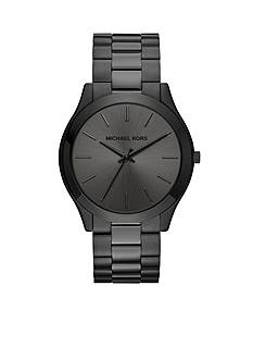 Michael Kors Men's Slim Runway Black Three-Hand Watch