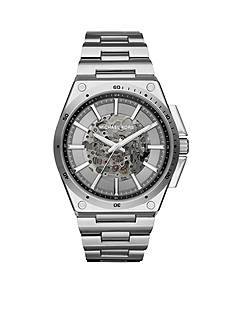 Michael Kors Men's Wilder Stainless Steel Skeleton Automatic Watch