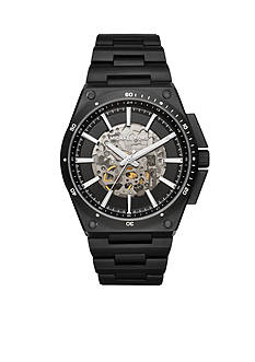 Michael Kors Men's Wilder Black Metal Skeleton Automatic Watch