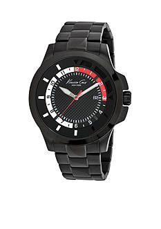 Kenneth Cole Black Ionic Plated Bracelet Watch