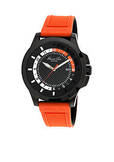 Kenneth Cole Men's Transparency Orange Silicone Watch