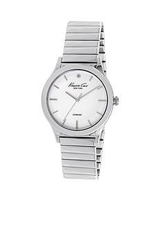 Kenneth Cole Women's Silver-Tone Genuine Diamond Watch