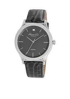 Kenneth Cole Men's Silver-Tone Genuine Diamond Watch