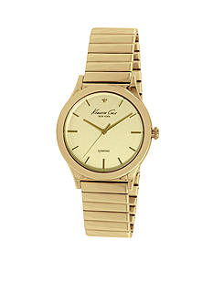 Kenneth Cole Women's Yellow Gold-Plated Genuine Diamond Watch