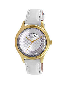 Kenneth Cole Women's Yellow Gold-Plated Transparency Watch