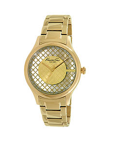 Kenneth Cole Women's Yellow Gold Plated Transparency Watch