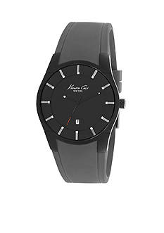 Kenneth Cole Men's Gunmetal and Gray Slim Silicone Watch