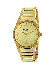 Kenneth Cole Men's Yellow Gold Plated Slim Watch