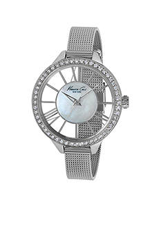 Kenneth Cole Women's Transparent MOP Dial Watch