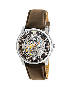 Kenneth Cole Automatic Brown Dial Watch with Rose Gold Accents Bracelet with Brown Strap