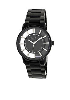 Kenneth Cole Black Ion Plated Stainless Steel Bracelet with Transparent Dial Watch