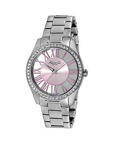 Kenneth Cole Stainless Steel Pink Transparent Watch
