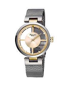Kenneth Cole New York Women's Two-Tone Gold and Silver Transparent Stainless Steel Bracelet