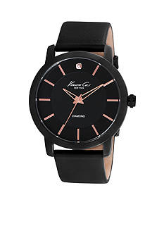 Kenneth Cole Rock Out Black IP Brass Case Watch