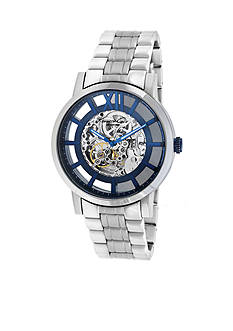 Kenneth Cole Men's Transparent Skeleton Automatic with Blue Dial Watch