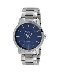 Kenneth Cole Men's Diamond Accent Stainless Steel Bracelet