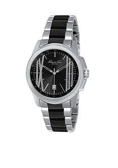Kenneth Cole Men's Two Tone Gunmetal & Stainless Steel Bracelet Watch