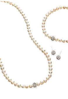 Belk Silverworks White Pearl and Fireball Three-Piece Boxed Set