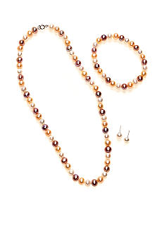 Belk Silverworks Multicolored Pearl Three Piece Set