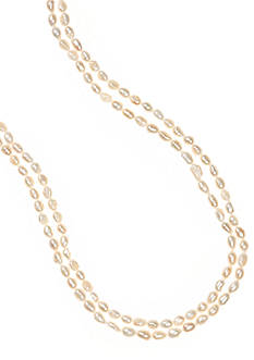 Belk Silverworks Baroque Fresh Water Endless Pearl Necklace