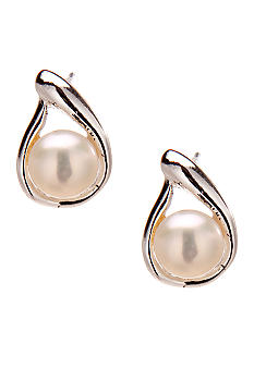 Belk Silverworks Cultured Pearl and Sterling Silver Stud Earrings