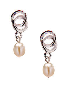 Belk Silverworks Cultured Pearl and Sterling Silver Drop Earrings