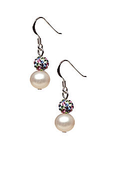 Belk Silverworks Pearl and Crystal Earring