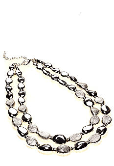 Via Neroli Two Strand Textured Necklace