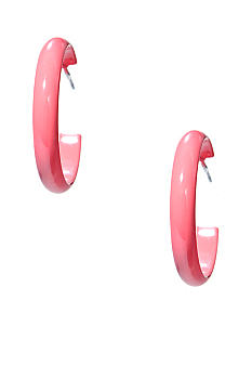 Kim Rogers Coral Spaghetti Hoop Earrings