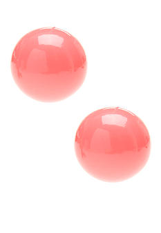 Kim Rogers Coral Ball Stud Earrings
