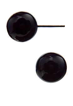Kim Rogers Navy Ball Stud Earrings