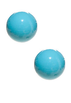 Kim Rogers Turquoise 10mm Ball Stud Earrings