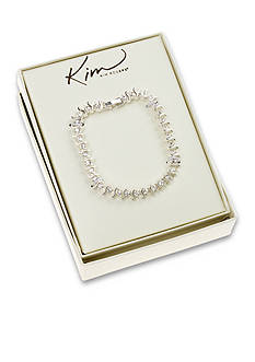 Kim Rogers Clear Stone S Tennis Boxed Bracelet