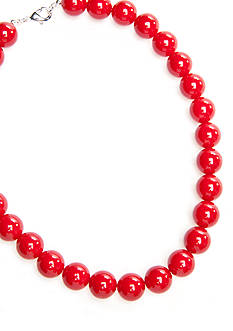 Kim Rogers Red Bead Necklace