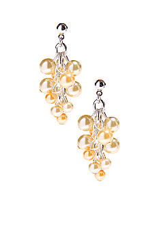 Kim Rogers Yellow Pearl Cluster Drop Earrings