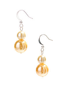 Kim Rogers Yellow Double Pearl French Wire Earrings