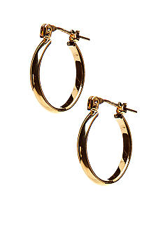Kim Rogers Gold Thin Oval 14Kt Gold Filled Post Hoop