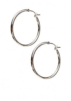 Kim Rogers Silver Large Thin 14K Gold Filled Post Hoop Earrings